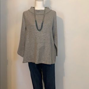 Grey mock turtleneck sweater